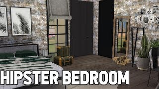 SIMS 4 SPEED BUILD // HIPSTER BEDROOM