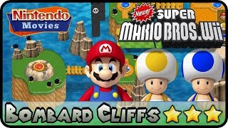 Newer Super Mario Bros. Wii   World E   Bombard Cliffs (100%,
