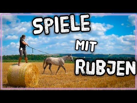 Geschicklichkeitsspiele mit Pferd ✮ Vom Fohlen zum Reitpferd ♥ Rubjen