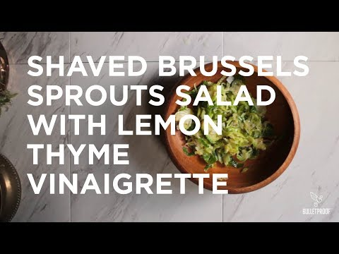 Shaved Brussels Sprouts Salad With Lemon Thyme Vinaigrette