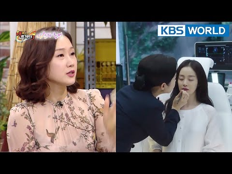 "HaeSun, ""It was hard to slap Kim TaeHee because she was so pretty T.T"" [Happy Together/2018.01.25]"