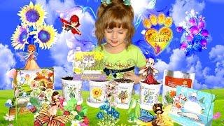 Strawberry, sunflower, bell-flower, pea.... Our mini garden, planting different plants Все Видео Канала LiSkA KiTtY: