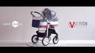 Детская коляска 2 в 1 Verdi Laser 07 Бежевый от компании Beesel.com.ua - видео