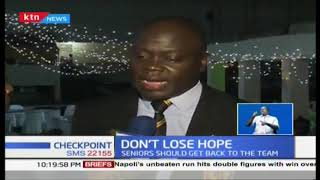 Former Kenya 7s coach Innocent Simuyu encourages the players not to lose hope