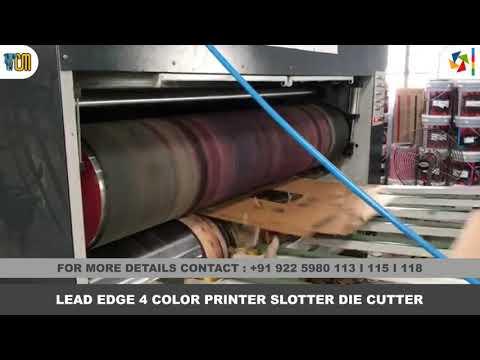 Flexo Printing Machine - 4 Color Printer Slotter Die Cutter