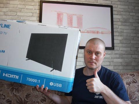 LED телевизор за 100$ с Aliexpess распаковка+подборка!
