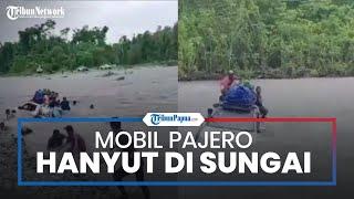 Viral Video Pajero Sport Nekat Terobos Sungai, Mobil dan Penumpangnya Hanyut Terseret Arus