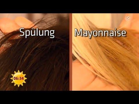 Das Öl des Weizens auf das Haar