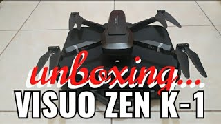 VISUO ZEN K-1 DRONE 4K HD GPS DUAL KAMARA WIFI FPV #BARU #hendranandra drone ( UNBOXING )