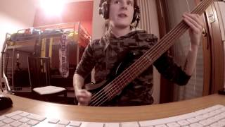 Triple Corpse Hammerblow - Children of Bodom (Bass Cover  - LTD F-105 test)