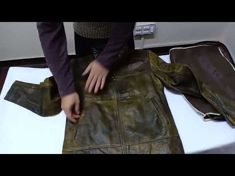 Unboxing of Distressed Brown Leather Motorcycle Jacket