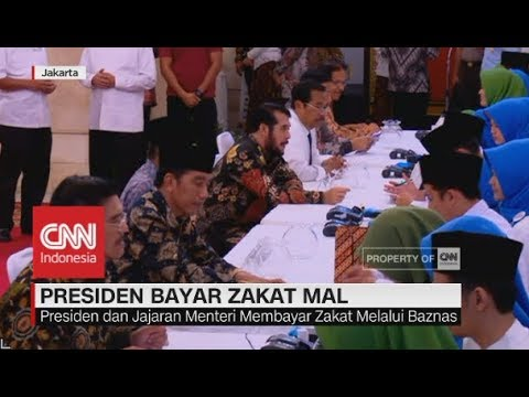 Jokowi-JK Bayar Zakat Mal hingga Rp 50 Juta