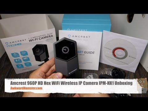 Amcrest 960P HD Hex WiFi Wireless IP Camera IPM-HX1B Unboxing
