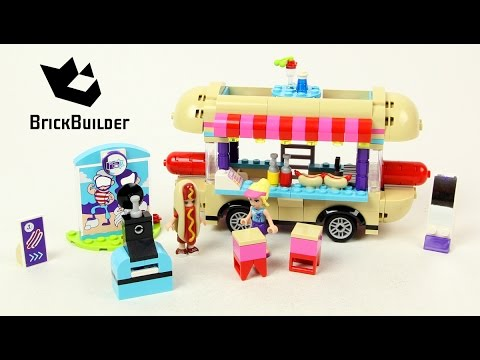 Vidéo LEGO Friends 41129 : La camionnette à hot-dogs du parc d'attractions