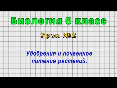 Биология 6 класс (Урок№2 - Удобрения и почвенное питание растений.)