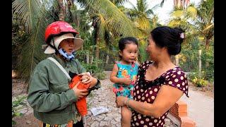 Buổi chiều đi học về của hai mẹ con - Hương vị đồng quê - Bến Tre - Miền Tây