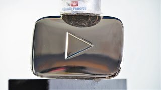 Silver Play Button vs Hydraulic Press and Gas Torch - 100 000 subscribers