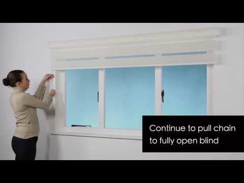 How to Install - Zebra Roller Blind - Surface Fitting