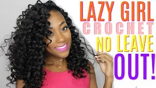 Curly Lazy Girl Crochet With NO LEAVE OUT ft. Divatress.com