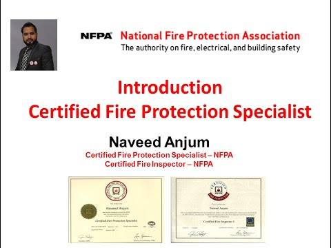 Introduction of Certified Fire Protection Specialist #NFPA USA ...