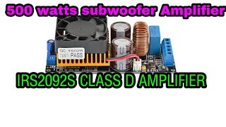 Class D Amplifier Kit 500w