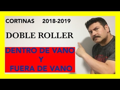 Cortinas roller, cortinas roller dobles