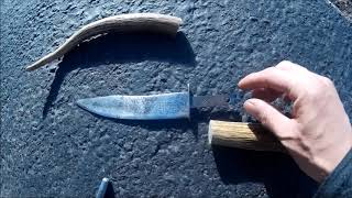 How to Use Water to Attach an Antler Handle to a Knife Blade