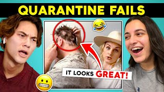 College Kids React To At Home FAIL Compilations (BAD Haircuts, News BLOOPERS & More)
