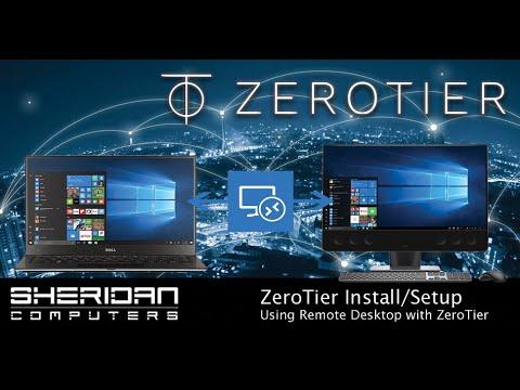 ZeroTier - How to setup remote desktop vpn on windows