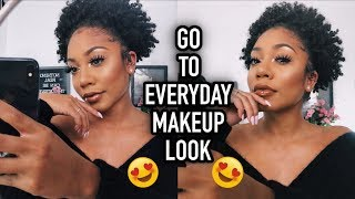 GO TO EVERYDAY MAKEUP LOOK + HUGE NATURAL PUFF | FACEOVERMATTER