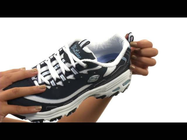 fdea1158837c Video. Sunshine. Sunshine. First look / Unboxing | Shop Zappos. SKECHERS  D'Lites - Biggest Fan ...