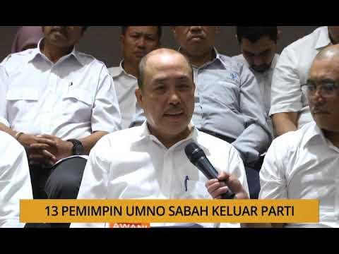 Kalendar Sabah: 13 pemimpin UMNO Sabah keluar parti