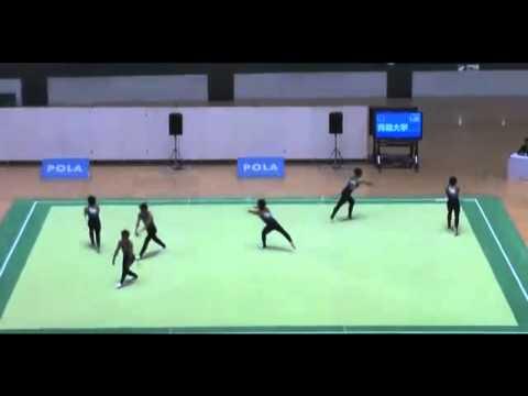 Espectacular ejercicio de gimnasia artística sincronizada