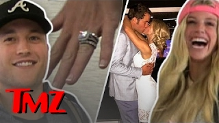 Introducing Matt Stafford And His New WIFE! | TMZ