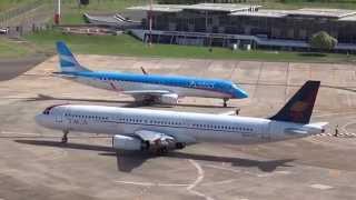 preview picture of video 'Rodaje y despegue Airbus 321 de TACA Perú - Aeropuerto Resistencia - SUB'