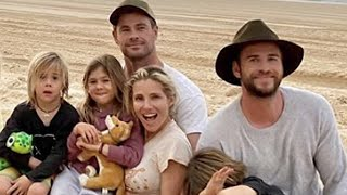 Liam Hemsworth Camps In Queensland W/ Brother Chris & Family