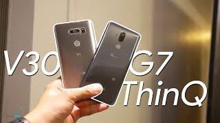 LG G7 ThinQ vs LG V30: first look