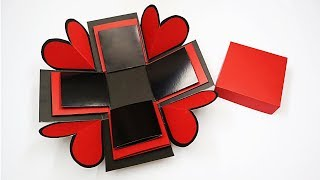 Explosion Box Tutorial For Beginners | How To Make Basic Explosion Box For Valentine/ Anniversary