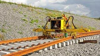 WoW! World Amazing Modern Railway Construction Machine Compilation. Railway track laying machine