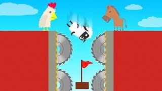 3 Noobs VS 99% IMPOSSIBLE Level! (Ultimate Chicken Horse)