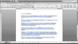 How to sort alphabetically your list of references in Microsoft Word