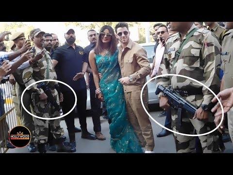 Newlyweds Priyanka Chopra and Nick Jonas Guarded By Heavily Armed Police in India
