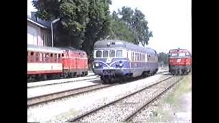 preview picture of video 'ÖBB 2143, 5145 Siebenbrunn 1991'