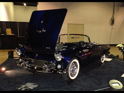 1955 Ford Thunderbird T-Bird Custom Restomod at World of Wheels on My Car Story with Lou Costabile