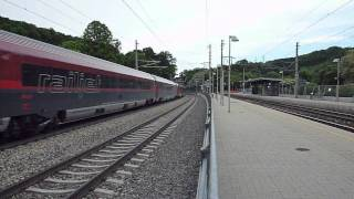 preview picture of video 'railjet in Purkersdorf'