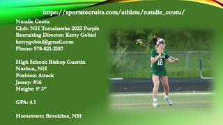 Natalie Coutu 2022 Lacrosse Highlight Video Spring 2019