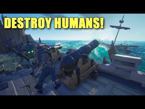 Commanding my Own Skeleton Ship in Sea of Thieves!