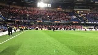 Slavia Fans At Stamford Bridfe