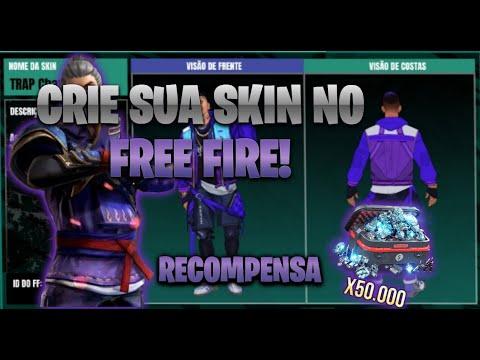 EVENTO CRIAR SKIN COM RECOMPENSA DE 50,000 DIAMANTES |FREE FIRE #proff
