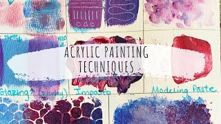 ACRYLIC PAINTING TECHNIQUES: Acrylic Painting Techniques For Beginners!